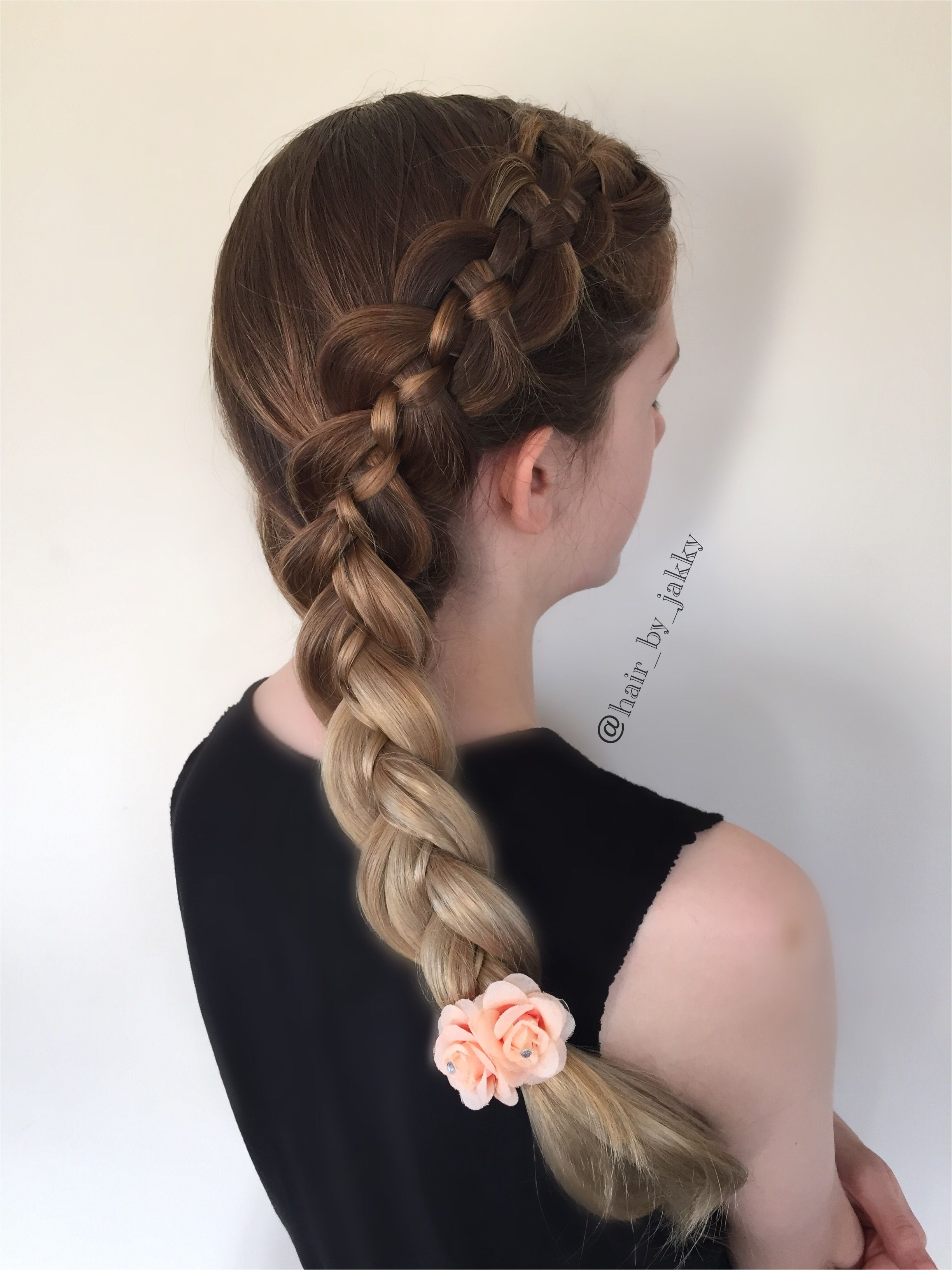 Five strand side dutch braid I love how the ombre looks with this braid