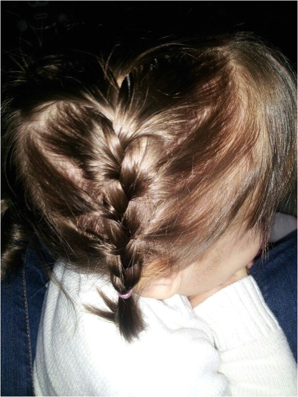 Toddler hair Half side french braid Be kind it was my first french braid ive ever done