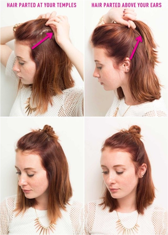 Hairstyles How to Do Buns Half Bun Hairstyles How to Do A Half Bun Tutorials and Tips