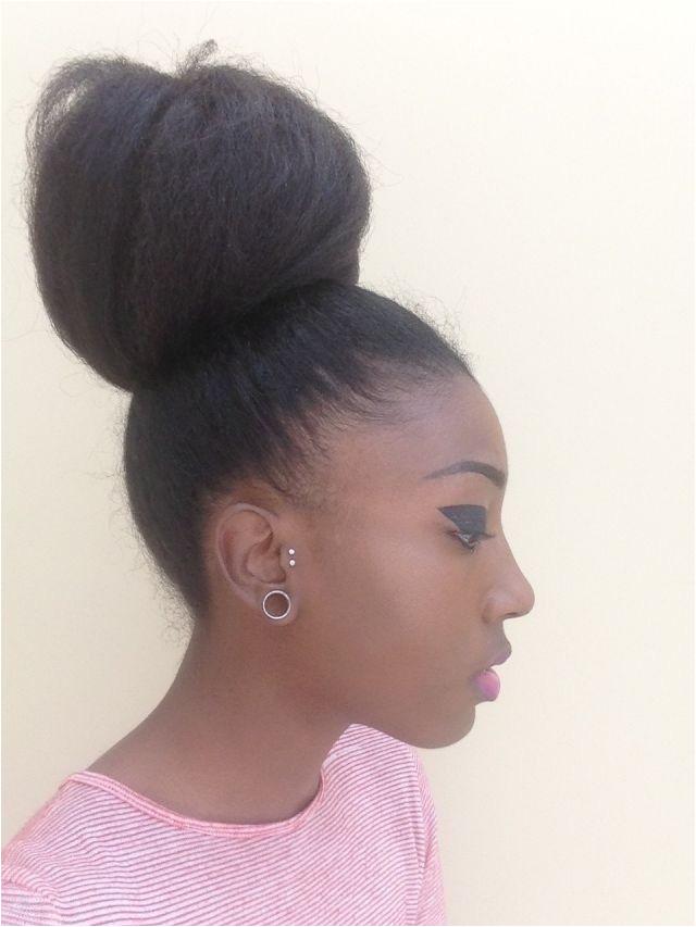 0d · Black Girl Bun Hairstyles Elegant 4c Hair Afro Hair Natural Afro Hair Afro High Buns 4c
