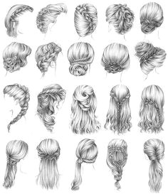 I want to try these all Drawn HairstylesHow To Draw