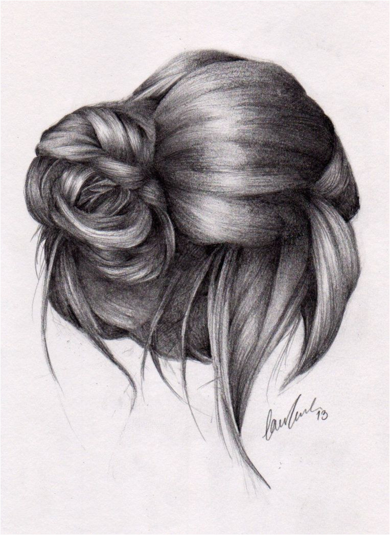 Just love that side bun Ponytail Drawing Drawing Hair Drawing Tips