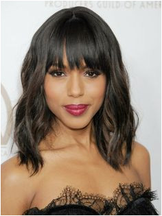Kerry Washington The Scandal star always looks flawless but her grown out fringe