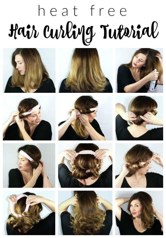 Heat Free Hair Curling Tutorial