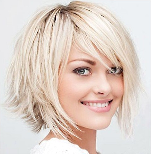 Shaggy layered razor cut bob