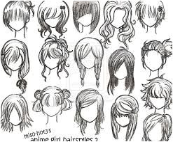how to draw anime hair step by step for beginners Google Search