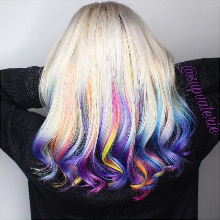 Hidden Mermaid by supvalerie Breathtaking color creation Valerie hotforbeauty mermaidhair rainbowhair rainbowhaircolor