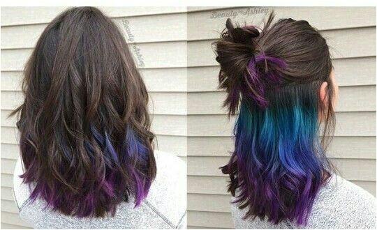 Under Colour Hair Summer Hair Colour Hidden Hair Color Under Hair Dye