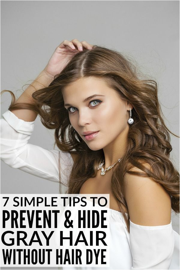 preventing and hiding gray hair without permanent hair dye Hair Styles & Tutorials Pinterest