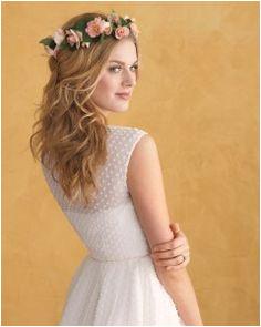 Floral Wedding Hairstyles Polka Dot Wedding Dress White Polka Dot Dress Polka Dots