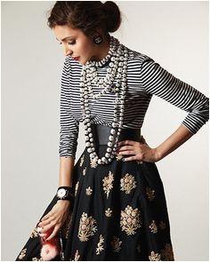 Side bun for long skirt by Anushka Sharma Anushka Sharma Indian Outfits Indian Clothes