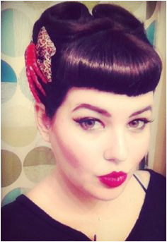 bettie bangs and victory rolls The hair of my dreams Don t quite