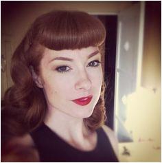 Amanda Zelina The Coppertone Vintage Hair Pinned Betty bangs