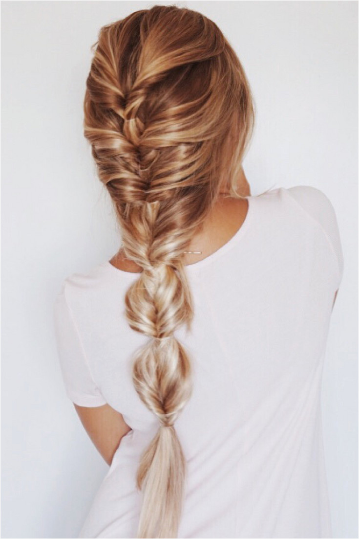 Faux Fishtail Braid Blonde Ombre Balayage Highlights Extensions Back to school hairstyles pink girly hairstyles hair goals hair inspo
