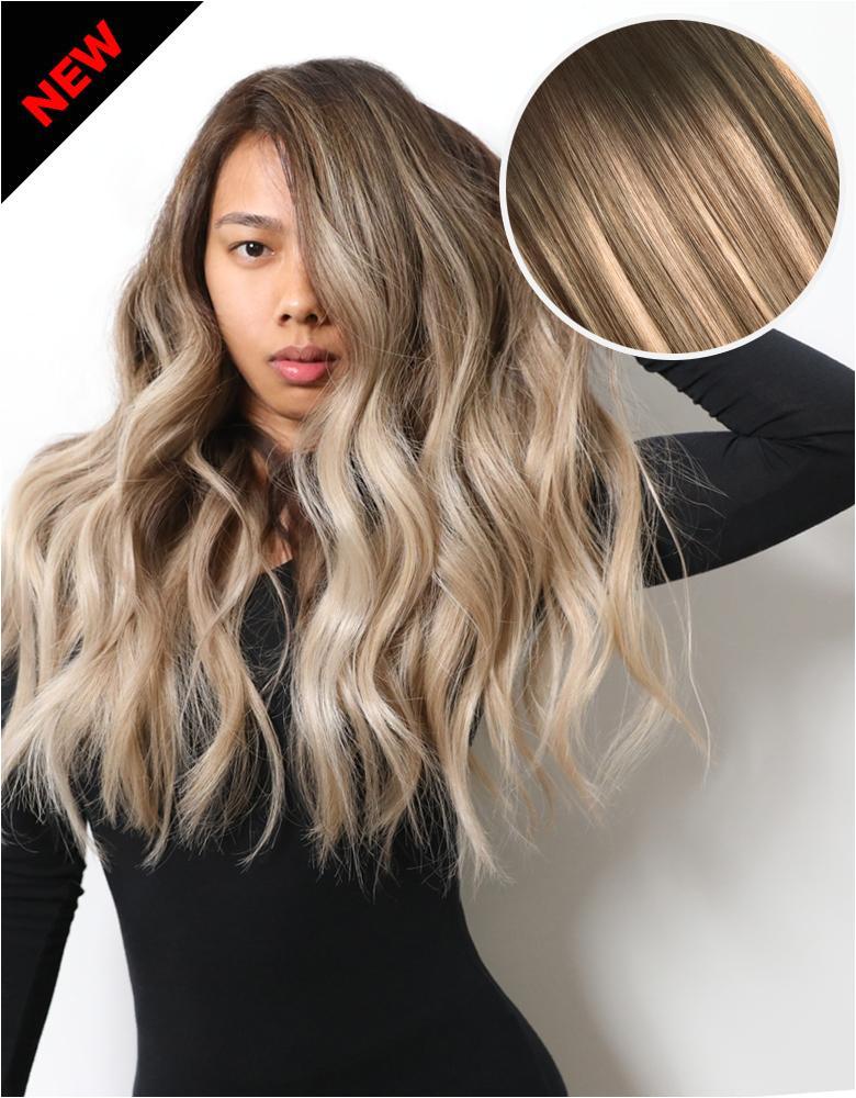 "Balayage 160g 20"" Hair Extensions 2 Dark Brown 18 Dirty Blonde"