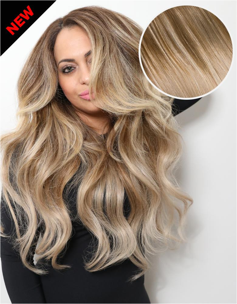 """Balayage 220g 22"""" Hair Extensions 17 Cool Brown 18 Dirty Blonde"""