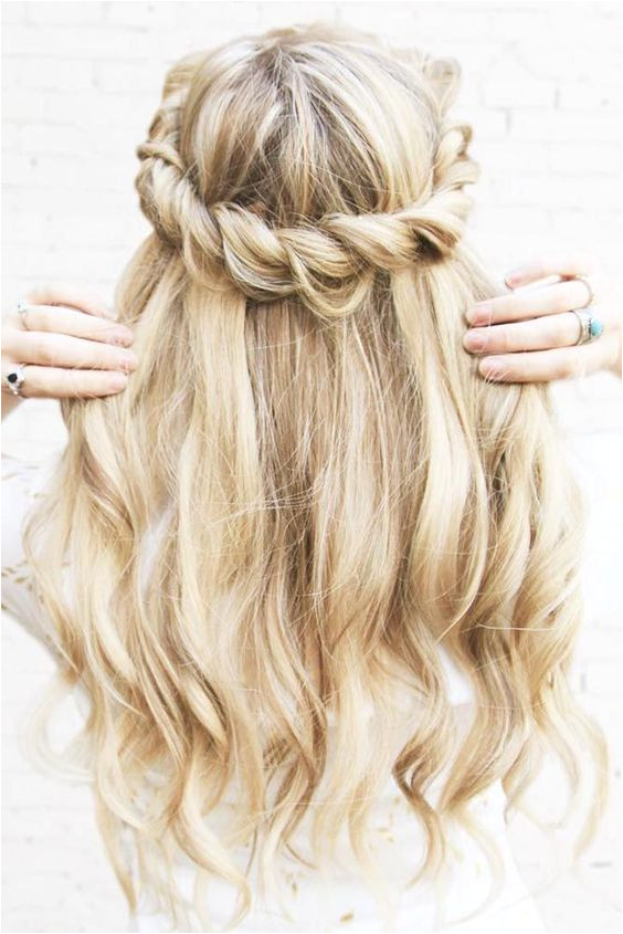 twisted crown hairstyle Ash Blonde Luxy Hair extensions on kassinka
