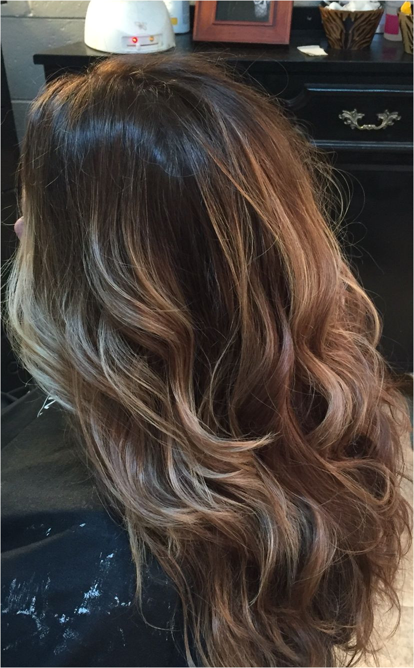 Hairstyles with Blonde On the Bottom Level 5 Natural Base Balayage Hi Lites Beauty