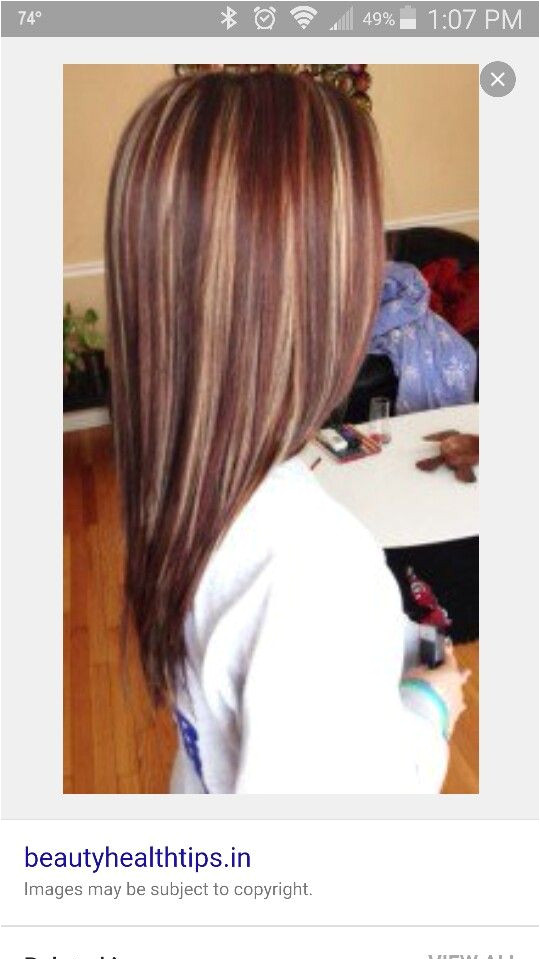 Highlights and low lights Red brown blonde
