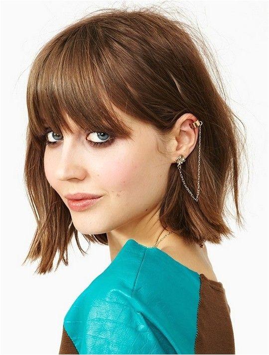 Cute Bob Hairstyles for Girls 2014 Short Hair With Bangs Choppy Bob With Bangs