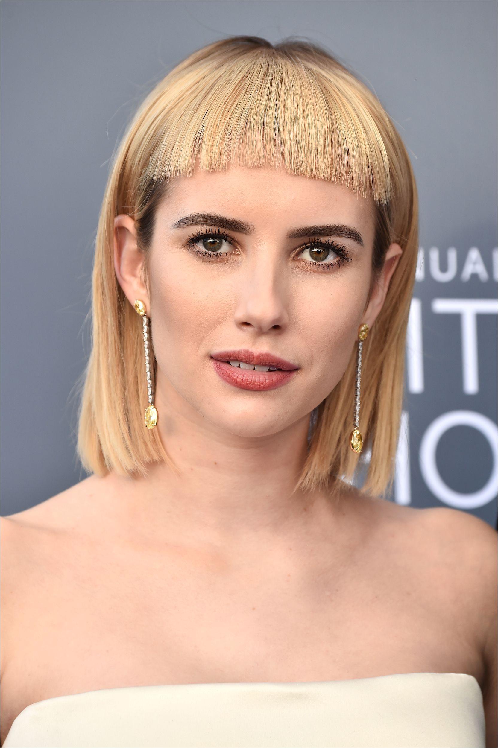 emma roberts haircuts with bangs