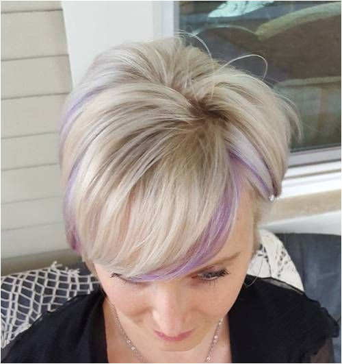 Short Hair with Purple Highlights short hairstyles for women over 50