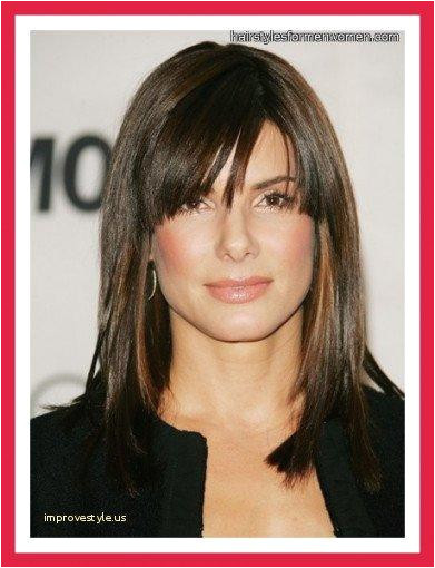 Hairstyles for No Edges Shoulder Length Hairstyles with Bangs 0d Improvestyle towards Edges