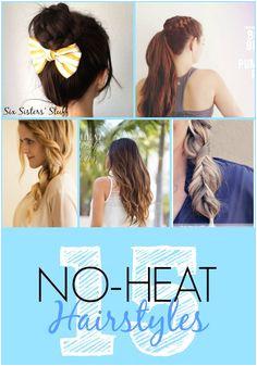 15 Easy No Heat Hair Tutorials