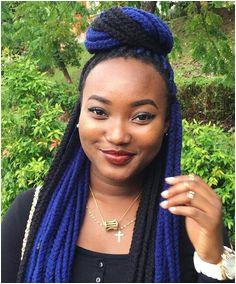 Blue & Black yarn braids More Yarn Braids Styles