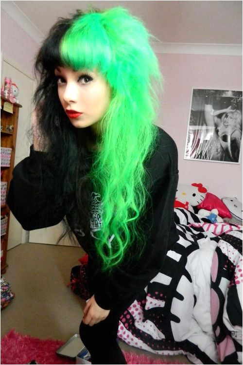 black and green hair on Tumblr