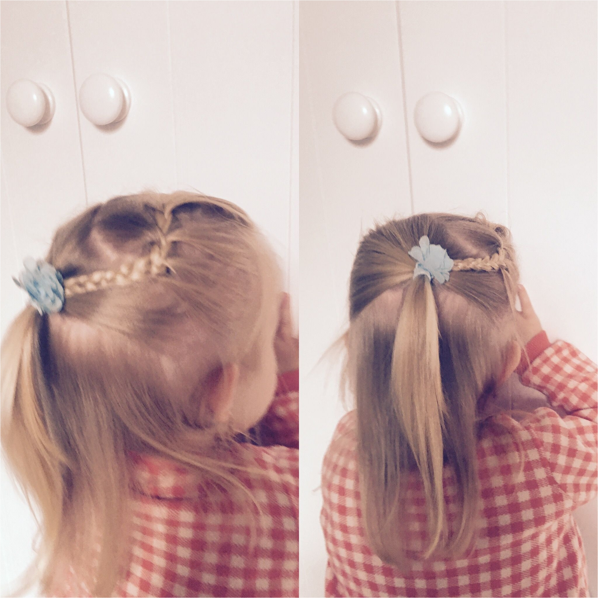 Braid half updo little girl hairstyle