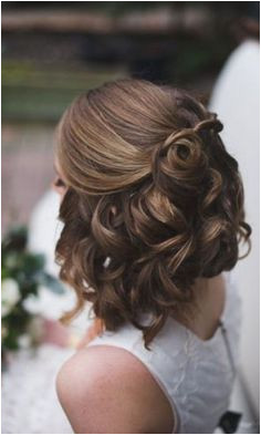 Wedding Hairstyles For Short Hair Half Up Half Down