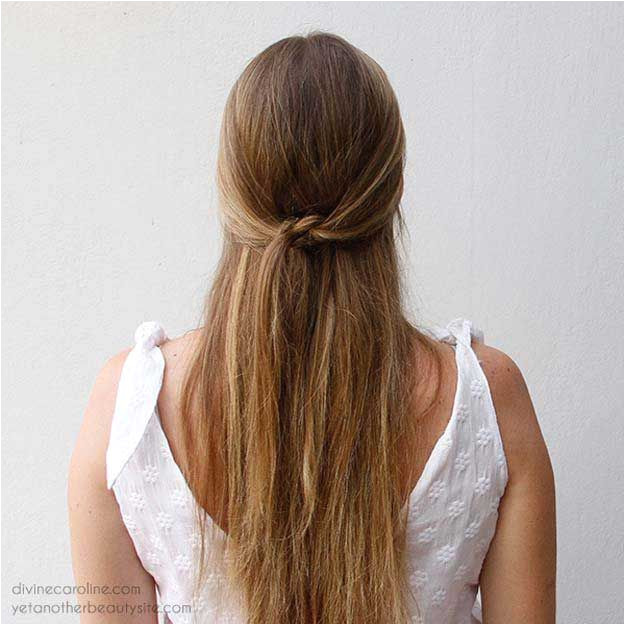 Amazing Half Up Half Down Hairstyles For Long Hair Simple Summer Do The Knotted Half Updo Easy Step By Step Tutorials And Tips For Hair Styles And