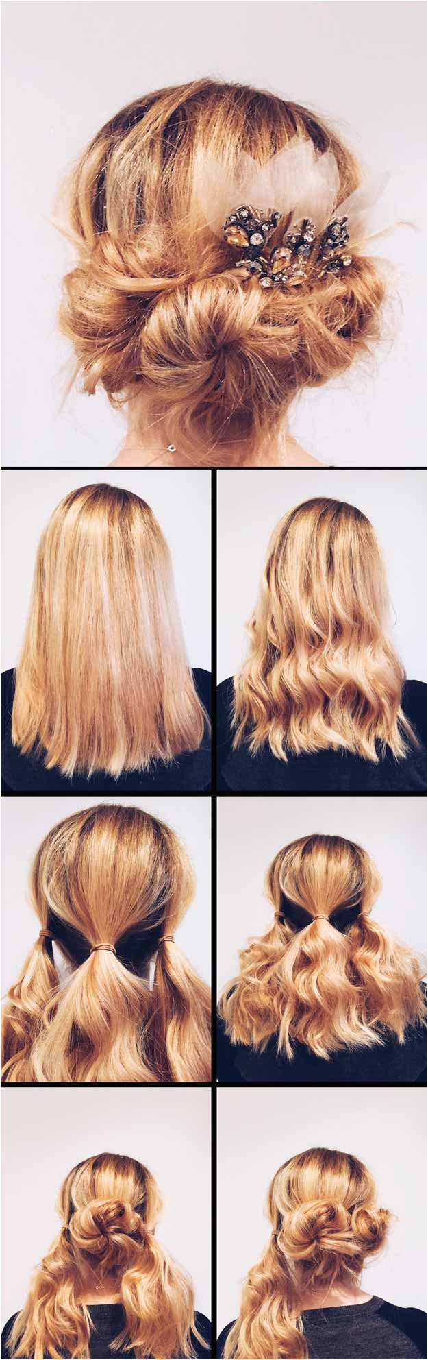 Long Wavy Hairstyles DIY Wedding Hair Easy DIY Updo Hair Tutorial Beautiful Long