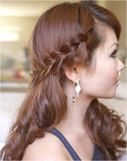 braided hairstyles plaits braided hair half updo with braid
