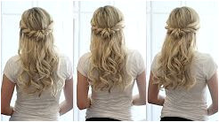 bridal hair tutorial half up half down