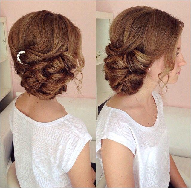 Hair Up Wedding Hair Fresh Side Swept Updo Draped Updo Wedding Hairstyles Bridal Hair Ideas
