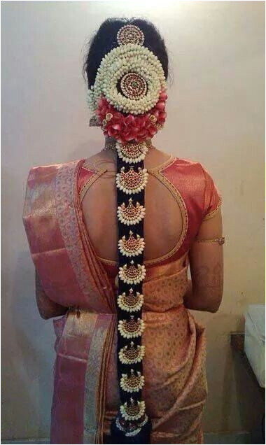 South Indian Bridal Hairstyles For Long Hair With Flowers BridalHairstyle SouthIndianBridalHairstyle