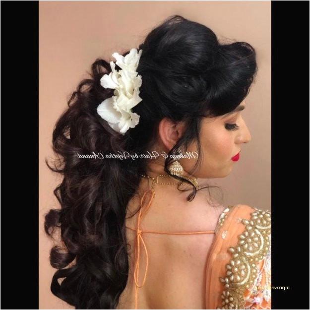 Fresh Flower Wedding Hair Luxury Great New Indian Bridal Hairstyle Fresh Lehenga Hairstyle 0d Amazing