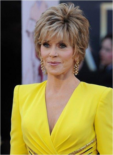 More Pics of Jane Fonda Layered Razor Cut 4 of 11 Short Hairstyles Lookbook StyleBistro