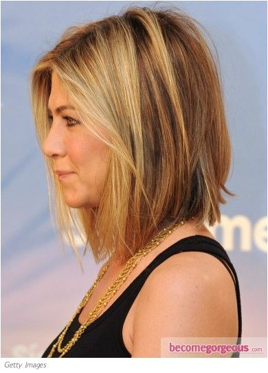 Jennifer Aniston long bob side view i like the length in both the front and the back