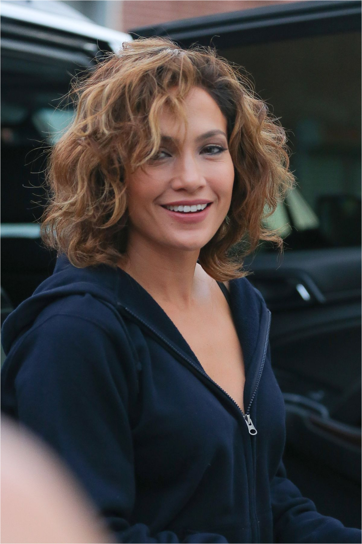 I like the hair coloring here JENNIFER LOPEZ at Shades of Blue Set in New York 07 23 2015
