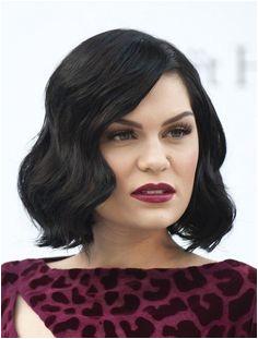 Jessie J Hairstyles Short Black Wavy Bob Hairstyle for Women