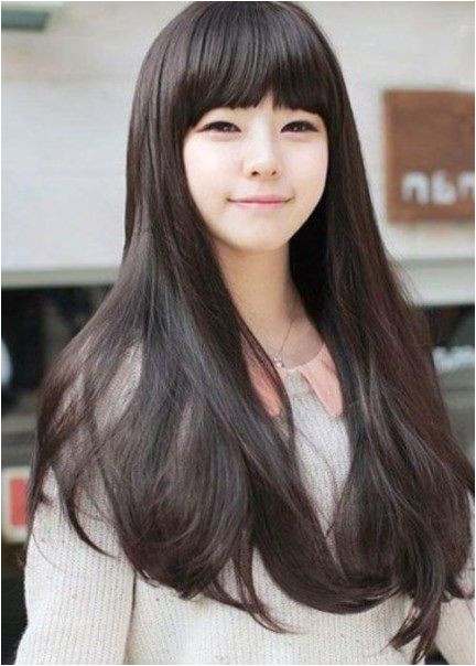 Korean Hairstyles Women Straight Hairstyles Cool Hairstyles Asian Hairstyles Full Hair