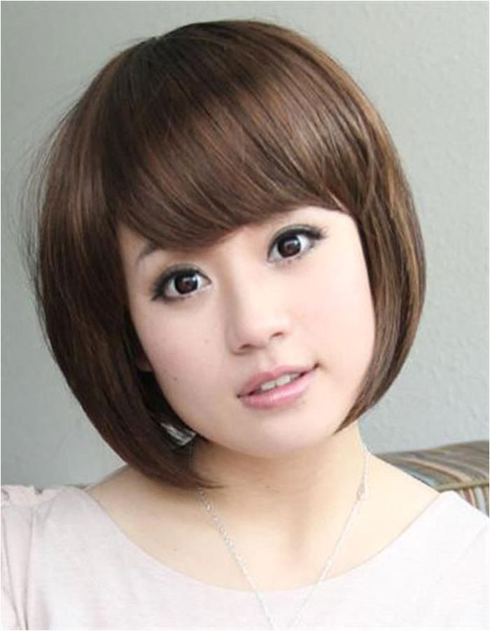 Korean Short Hairstyles for Round Faces Hairstyle for Round Chubby asian Face Hair Pic
