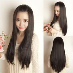 hot salehair show wig long straight hair Japanese HaircutKorean
