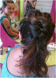 Girls Updo Girls Hairdos Flower Girl Hairstyles Cute Hairstyles Girl Makeover Makeover Party 10th Birthday Parties Kid Parties Little Girl Hairdos
