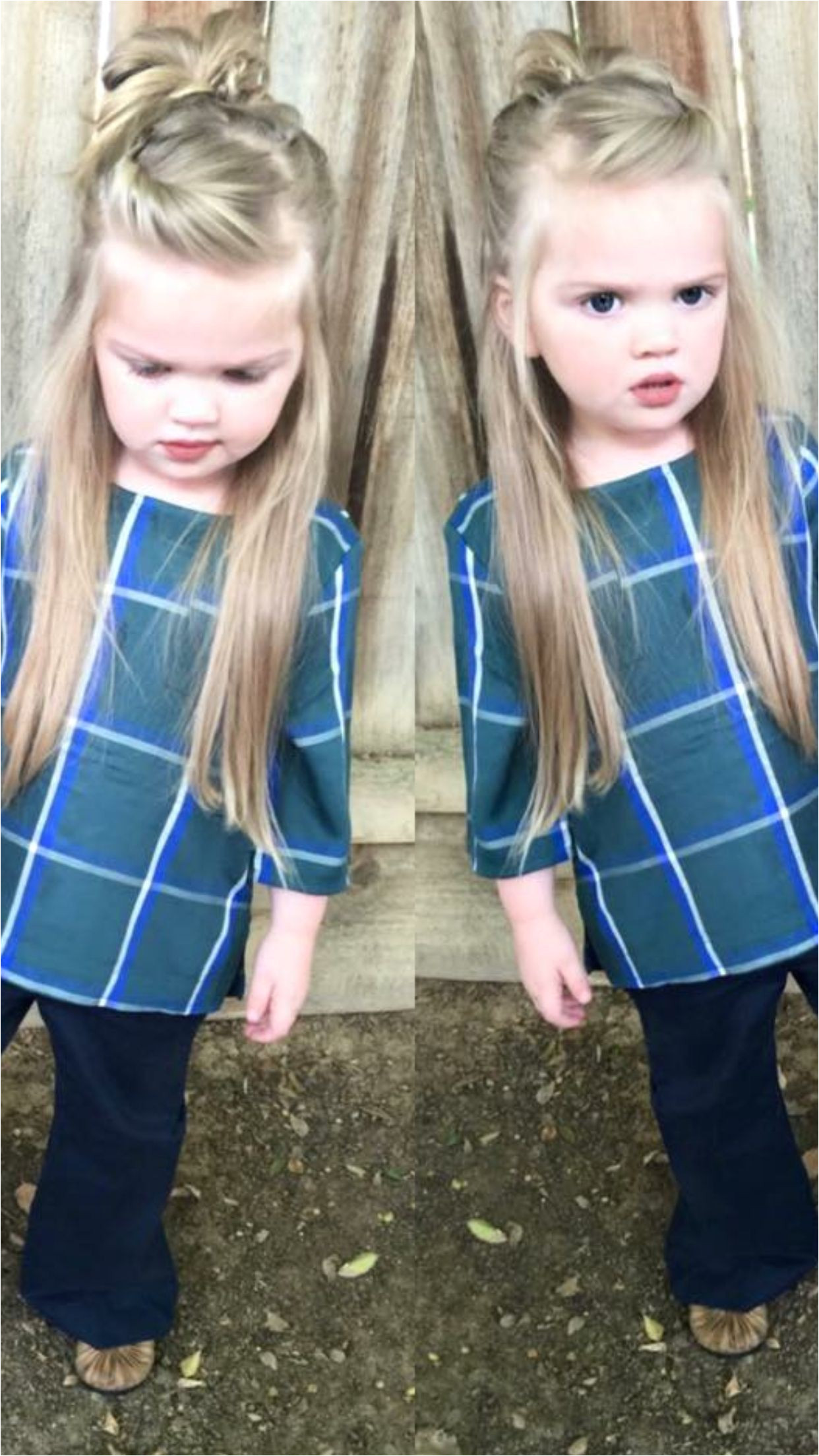 Hairstyle for Small Girls Beautiful Little Girl Hairstyles Half Up Half Down top Knot Messy Bun