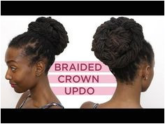 Loc Hairstyle Tutorial Braided Crown Up Do