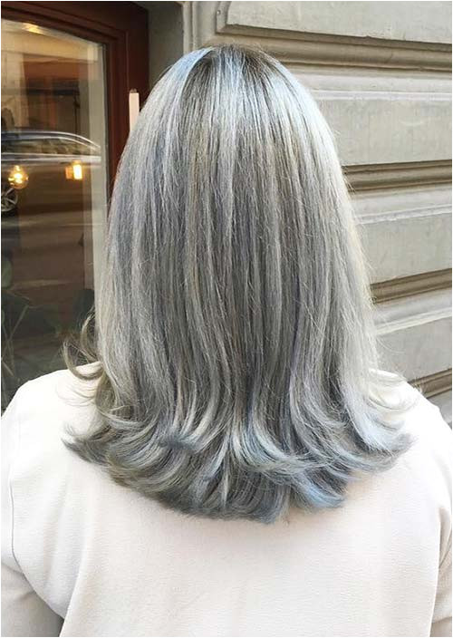 Haircuts & Hairstyles for Women Over 50 Long Grey Balayage